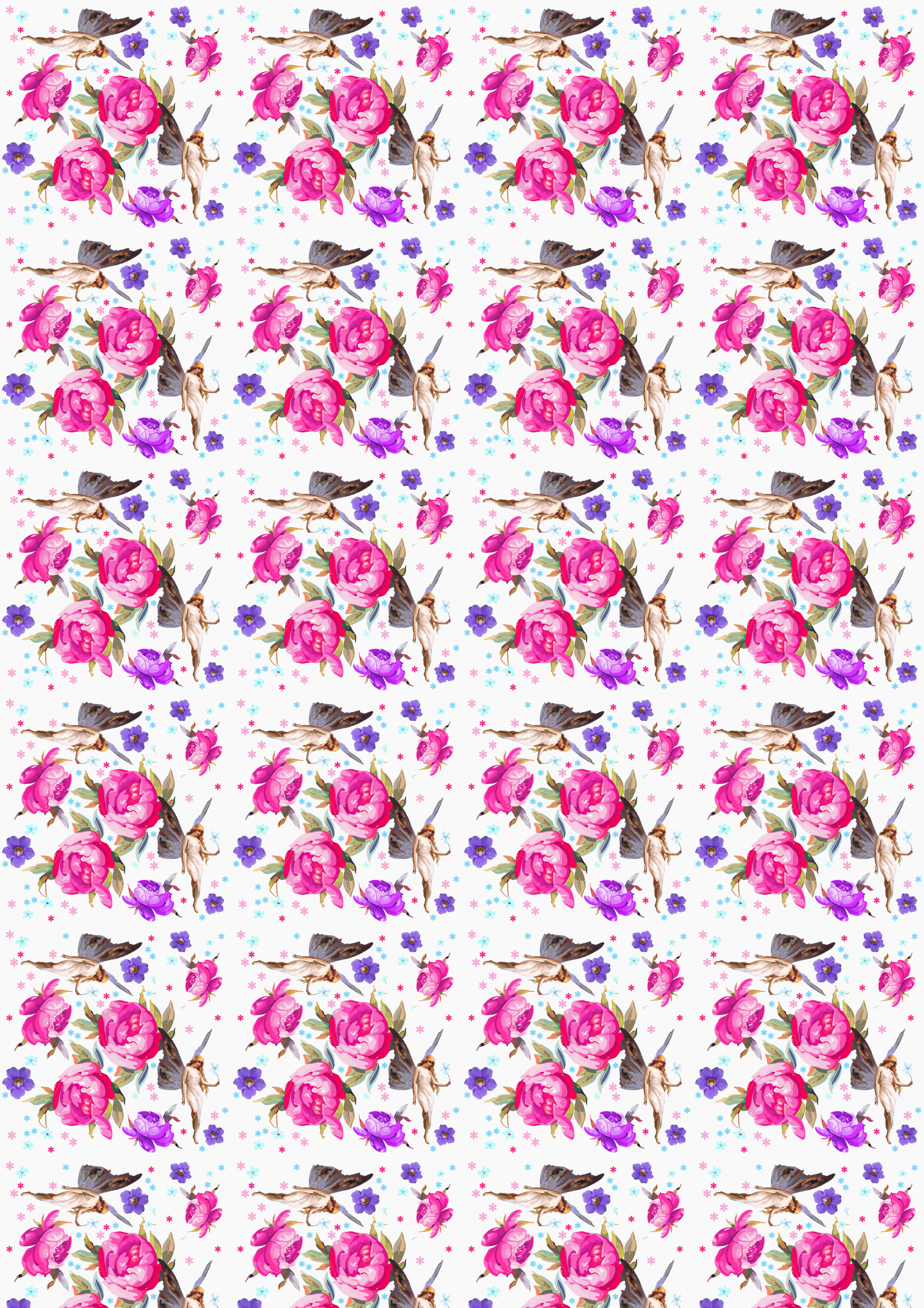 Free scrapbook paper garden flower fairies large for Landscape design paper