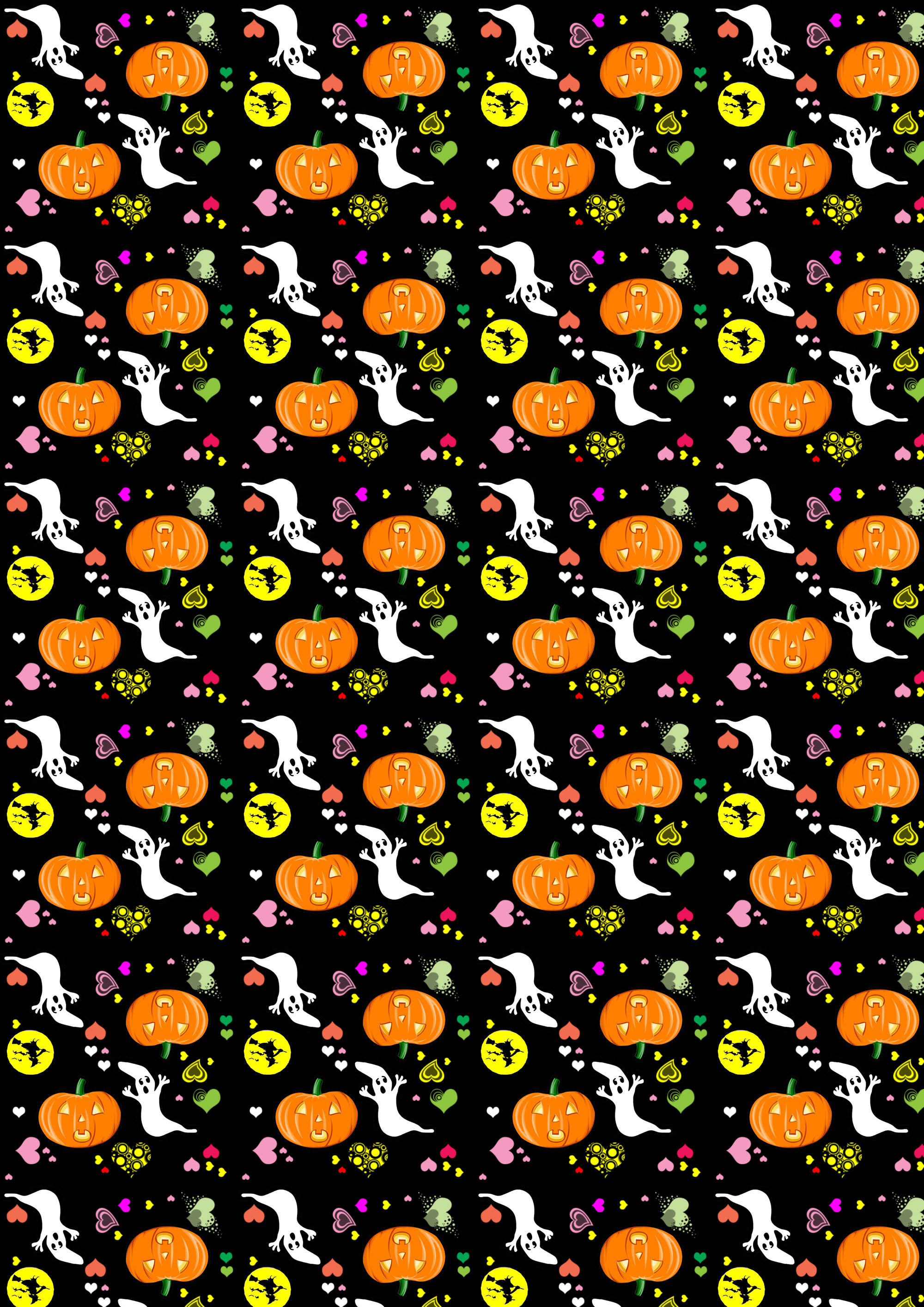 Free Scrapbook Paper Halloween Hearts Large Rooftop