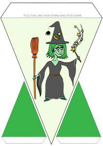 Halloween Witch Bunting