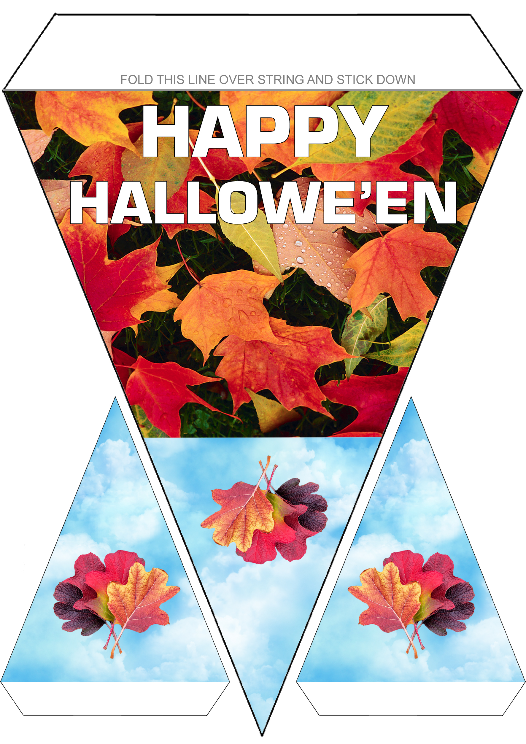 Printable Happy Halloween decoration