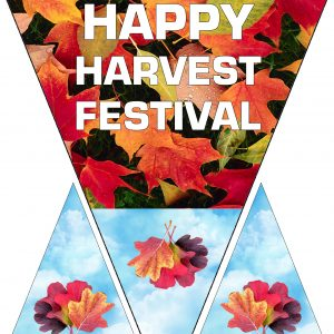 Printable Happy Harvest Festival decoration