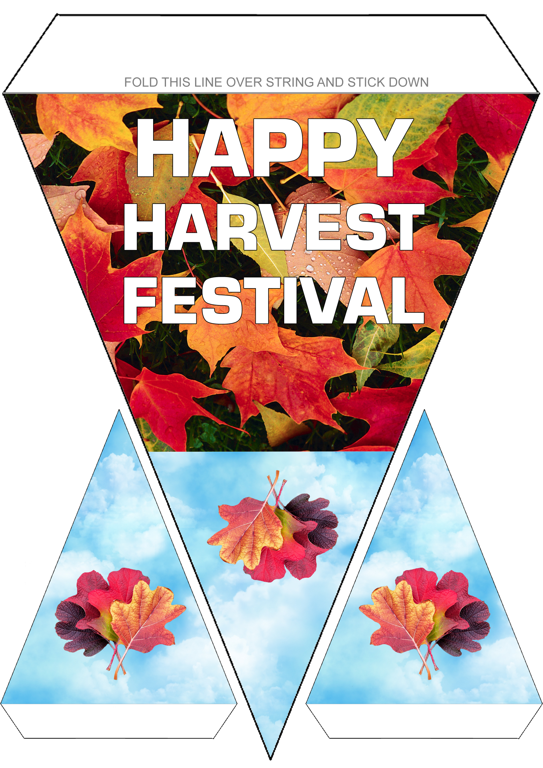 happy harvest festival bunting