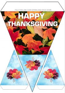 Printable Happy Thanksgiving bunting