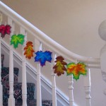 Paper leaf decorations