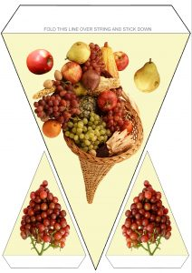 Thanksgiving Bunting - Cornucopia