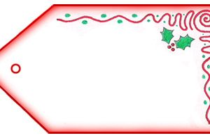 Blank Father Christmas Letter Tag