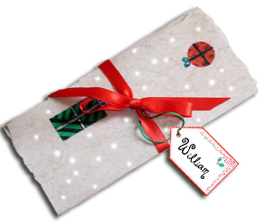 Printable Letter from Father Christmas Folded to Show Decorative Back