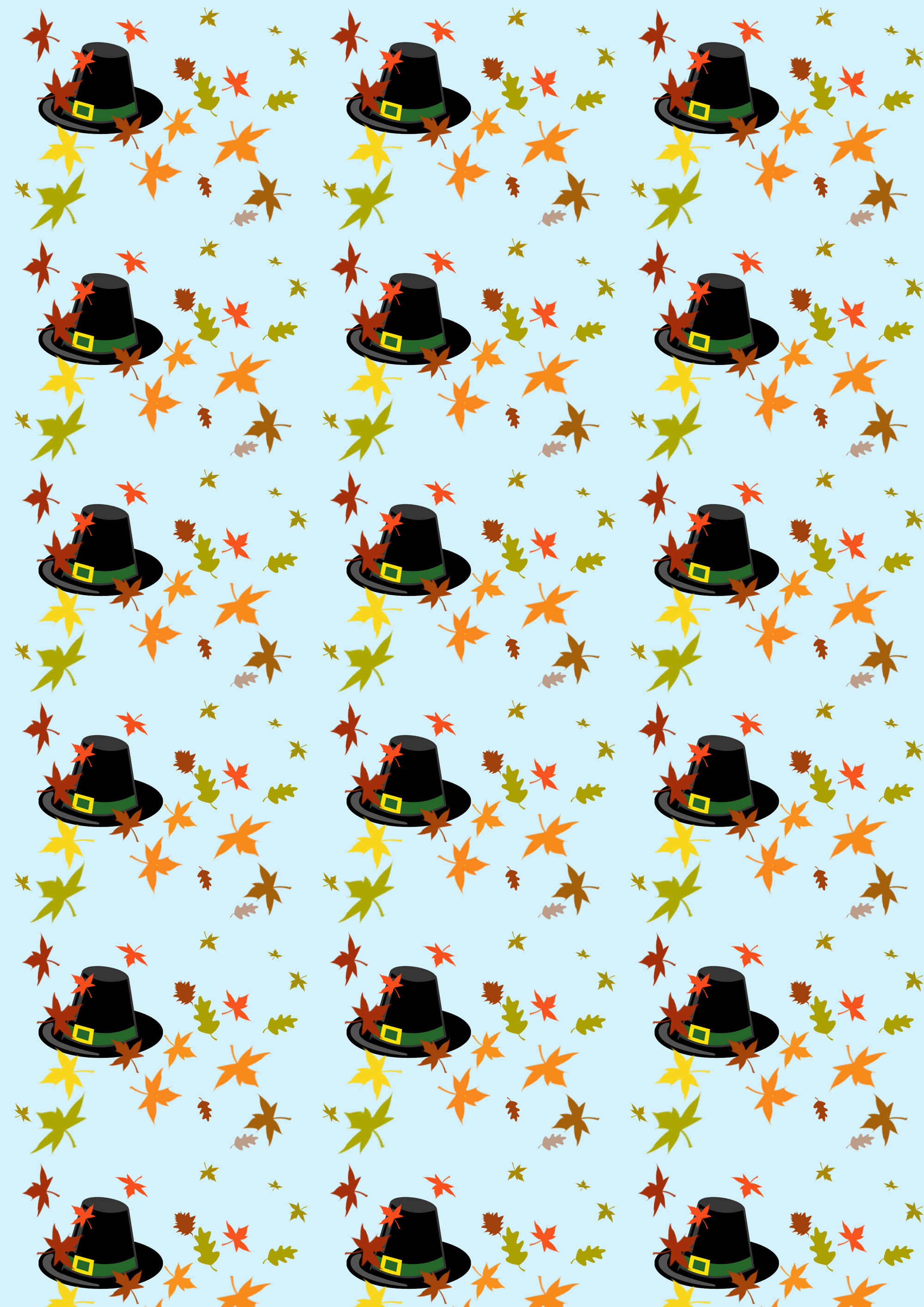 Scrapbook Paper Thanksgiving Hat Rooftop Post Printables