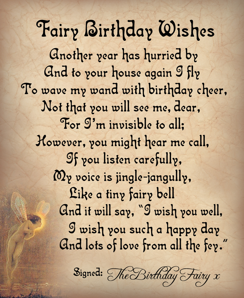 A Magical Poem From The Birthday Fairy