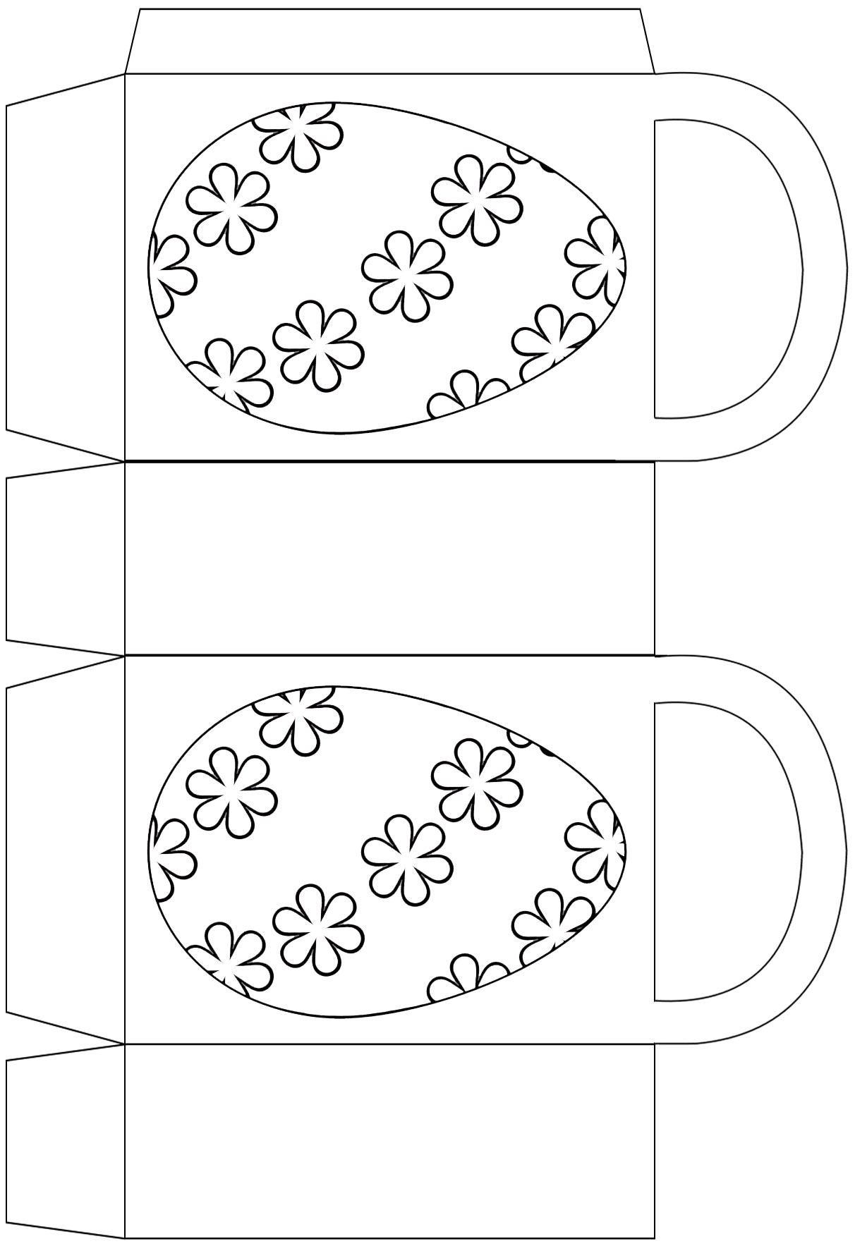 Easter egg party bag to print and colour in