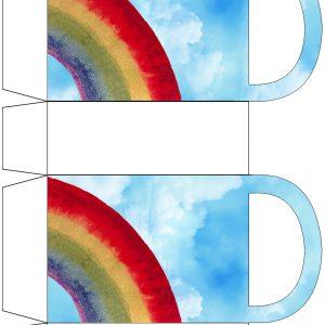 Printable rainbow-themed gift bag