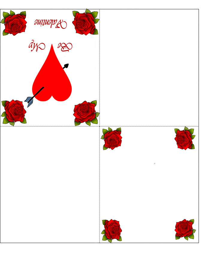 four fold printable valentine u2019s day card