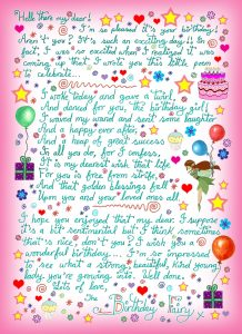 Birthday Fairy Letter with Poem for a Girl