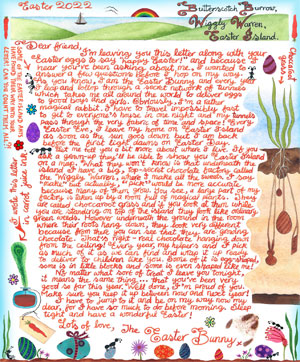 Easter Bunny Letter: My Secret Chocolate Factory