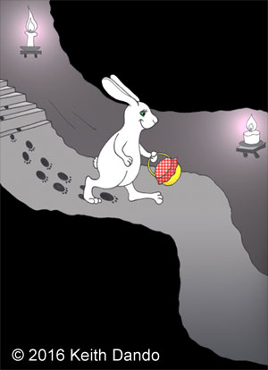 Easter Bunny on his way around the world
