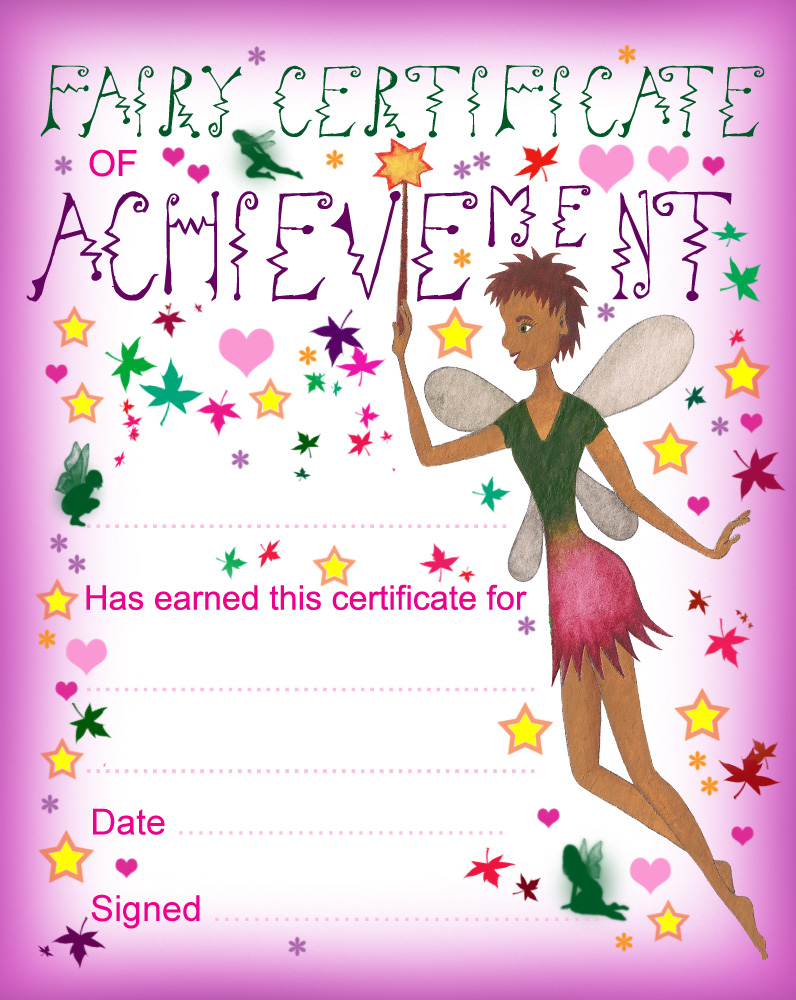 Fairy Certificate of Achievement | Rooftop Post Printables