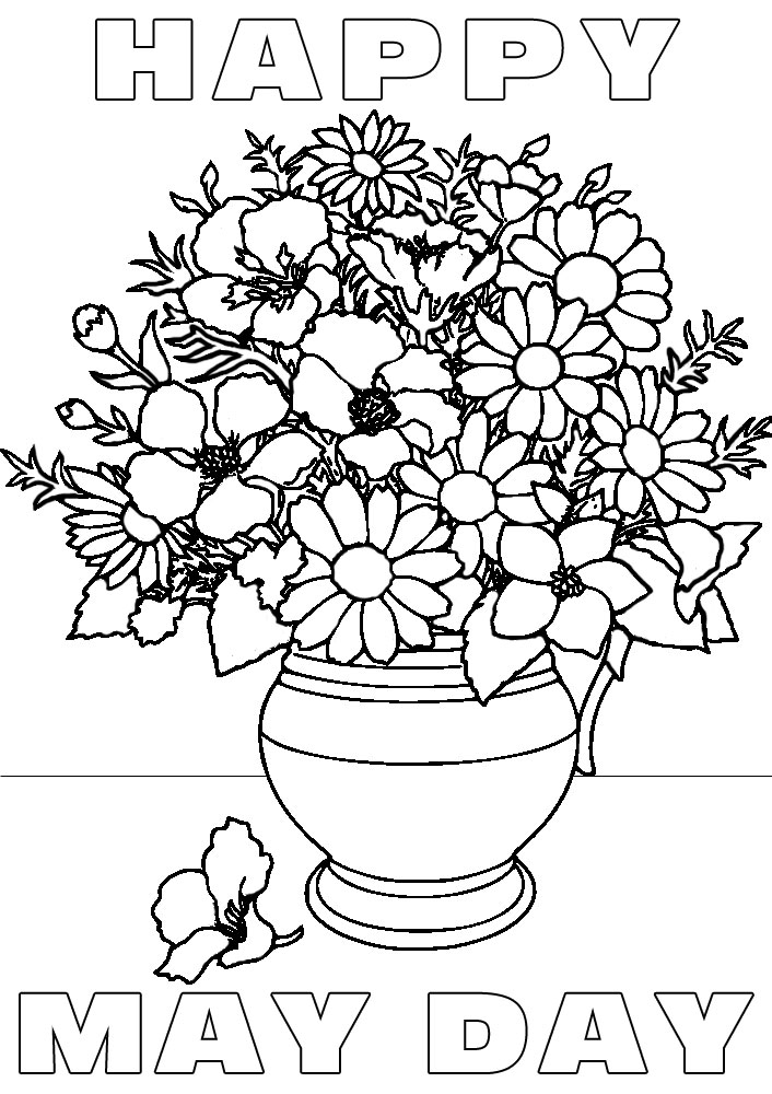 may day coloring pages - photo#20