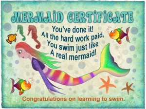 Mermaid Certificate: Learning to Swim (No name needed)