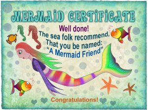 Mermaid Certificate: Mermaid Friend (No name needed)