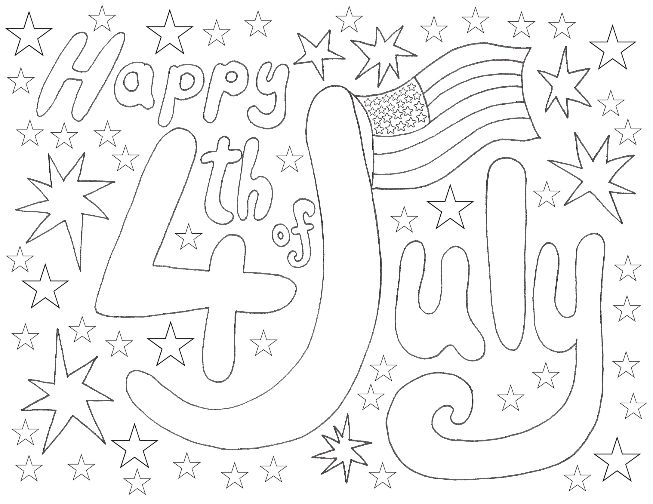 4th july coloring rooftop post printables for 4th of july color pages