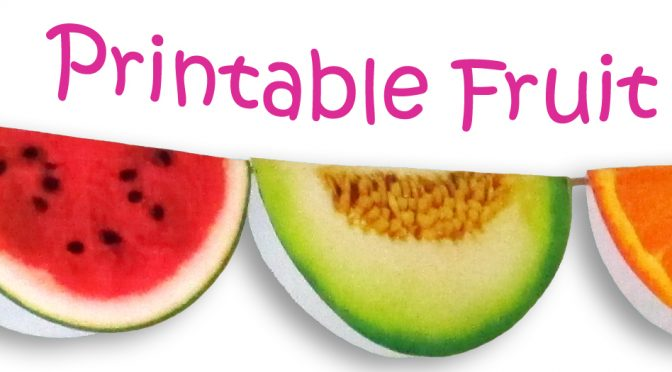 image about Printable Fruit Pictures titled Printable Fruit Garland Rooftop Short article Printables
