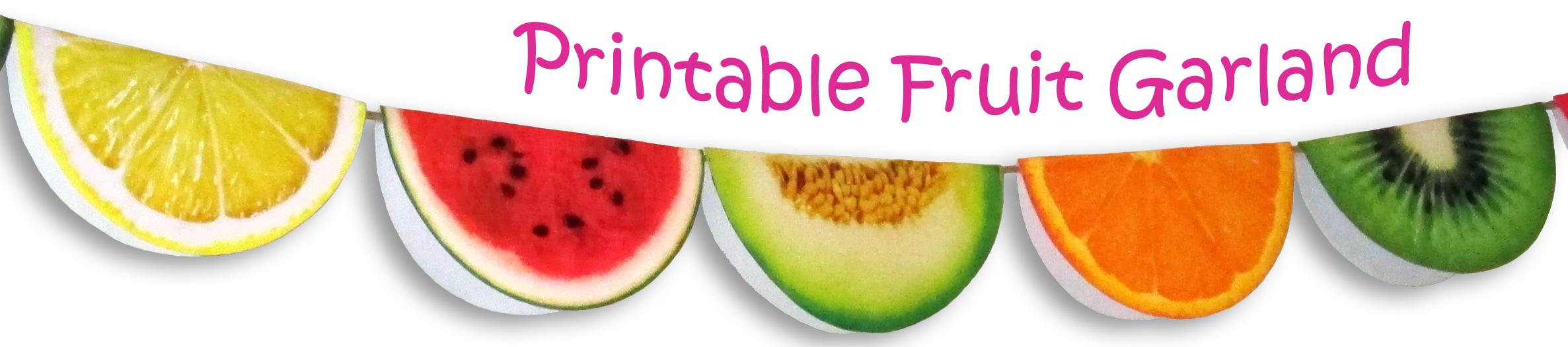 Printable Fruit Garland