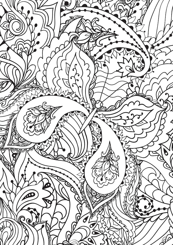 Printable butterfly paisley