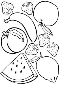 Fruity colouring for kids