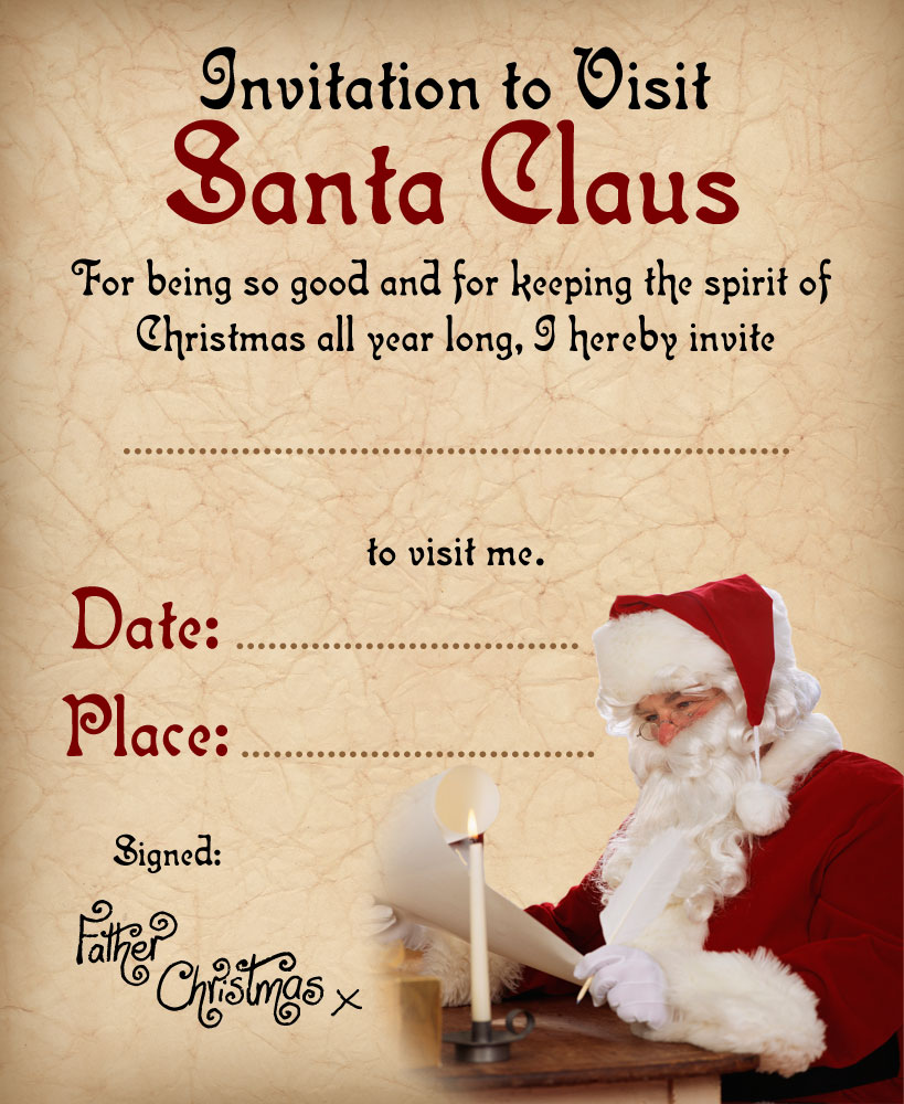 Invitation To Visit Santa Claus Rooftop Post Printables