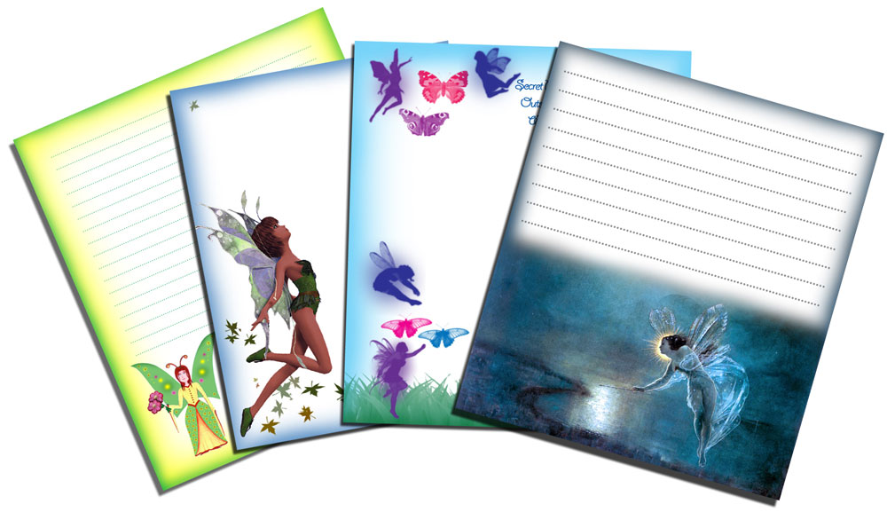 Blank Fairy Notepaper