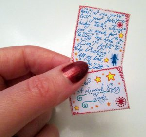 Miniature Tooth Fairy and matching envelope for a child's 1st Tooth