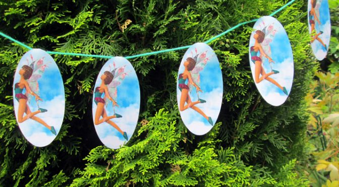 Fairy Garland Hanging from a Tree