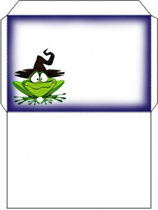 Fun froggy envelope to print for Halloween