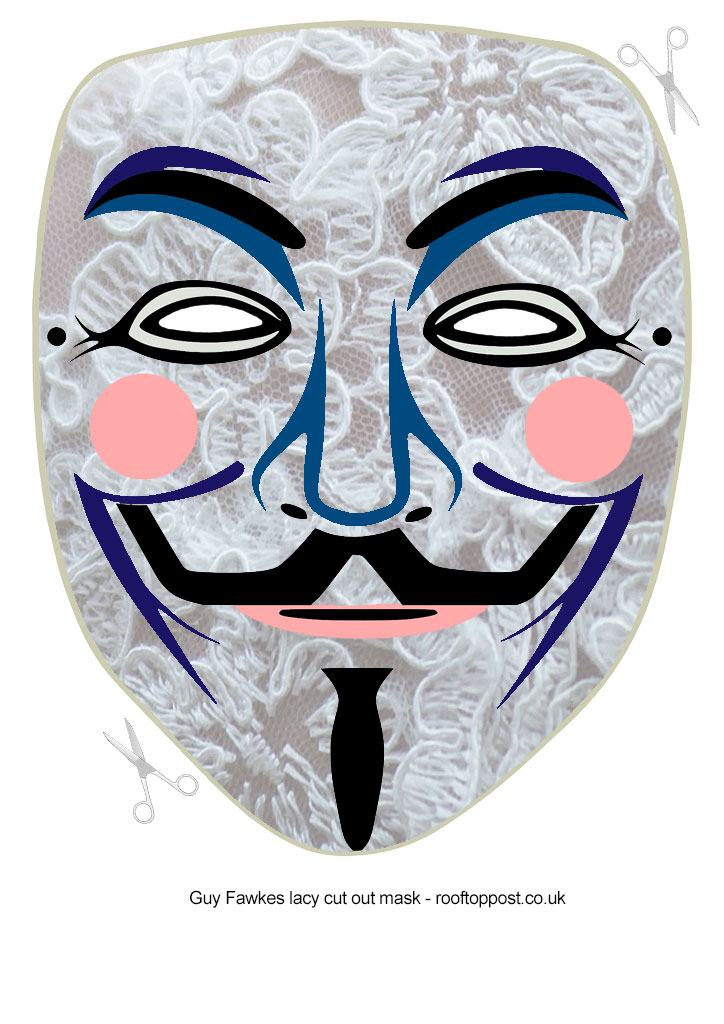 guy-fawkes-cut-out-mask-lace | Rooftop Post Printables