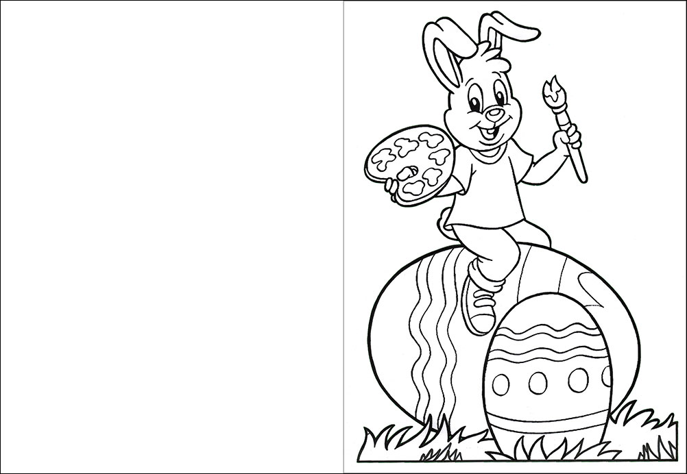 Easter Bunny Colouring Card | Rooftop Post Printables