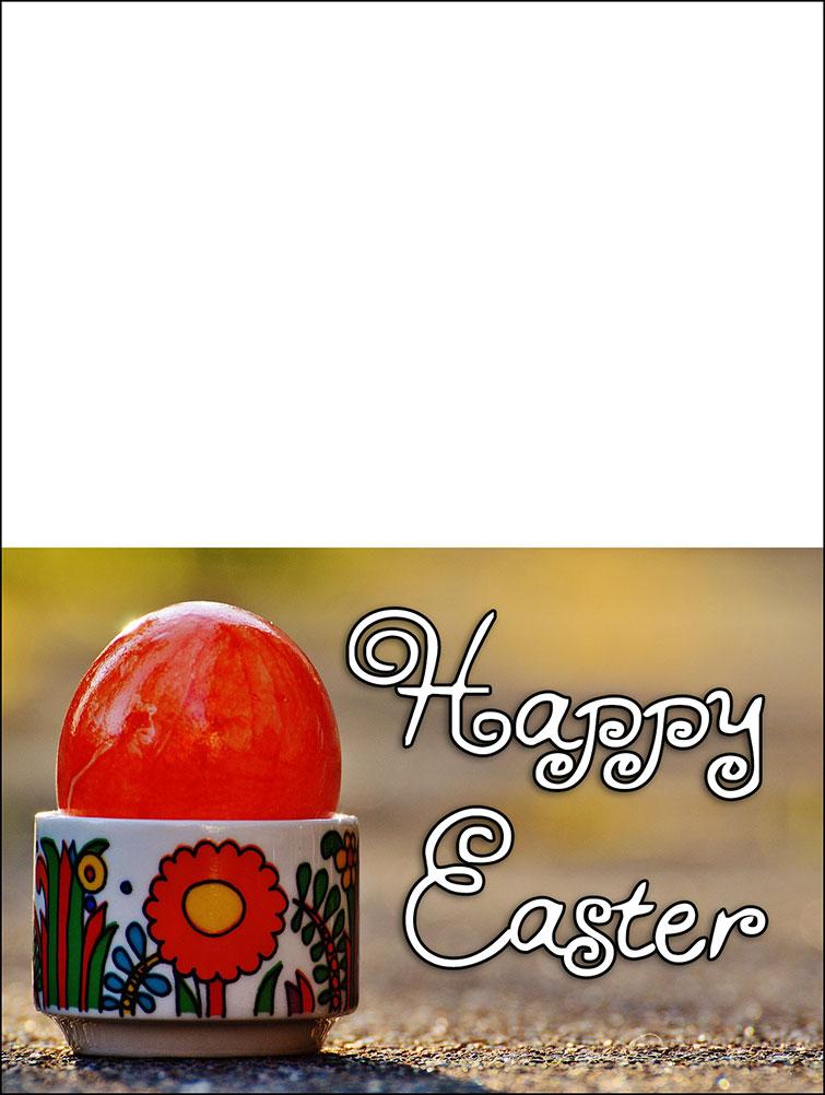 Pretty printable Easter card