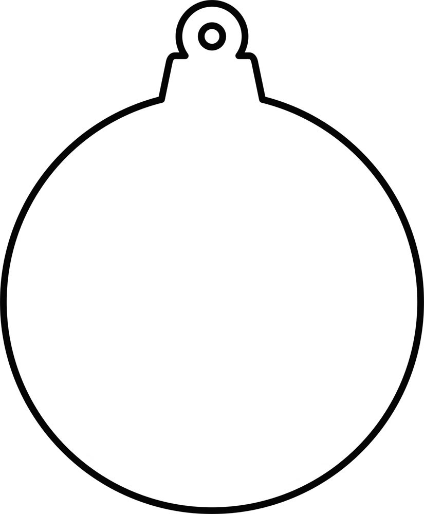 Hanging Ornament Blank Template Rooftop Post Printables