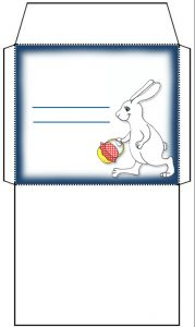 Blank Easter Bunny themed envelope
