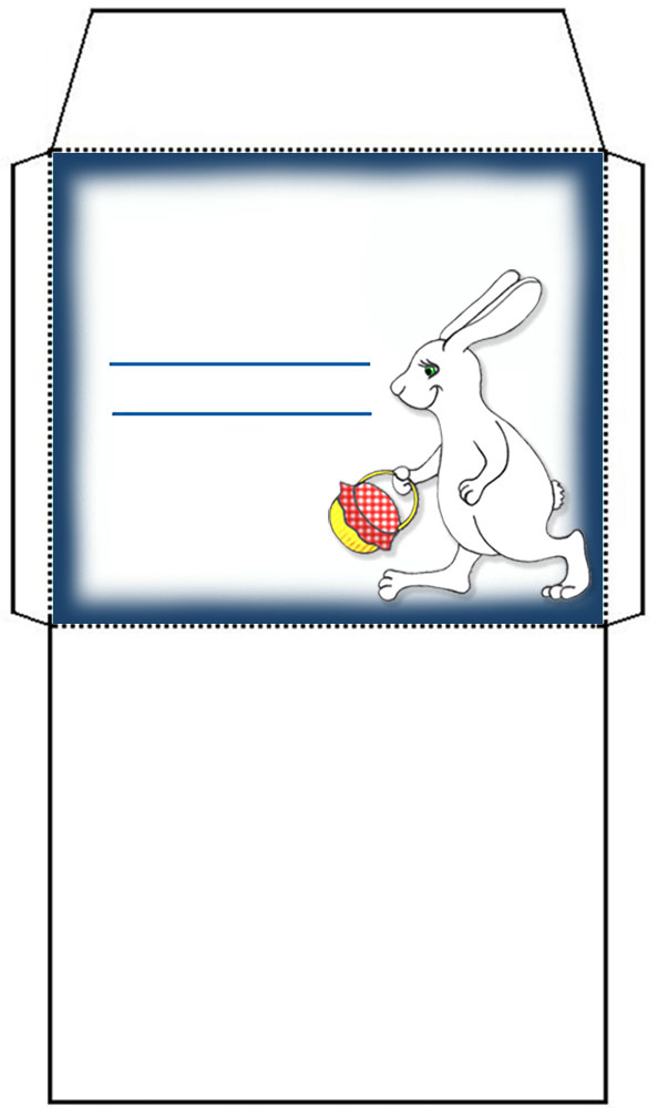 Blank Easter Bunny themed envelope