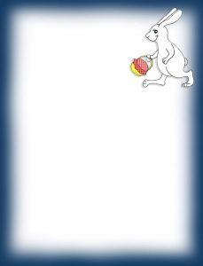 Blank Easter Bunny themed notepaper