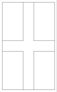 Printable outline of St George's Cross to colour in