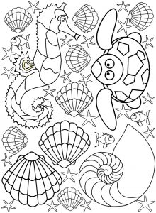 Printable seaside colouring for kids