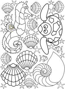 Printable seaside colouring for kids