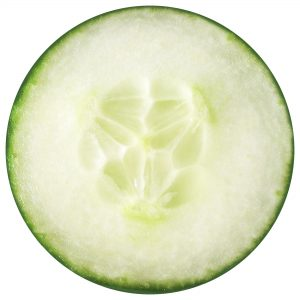 Printable cucumber slice for making summer party garlands.