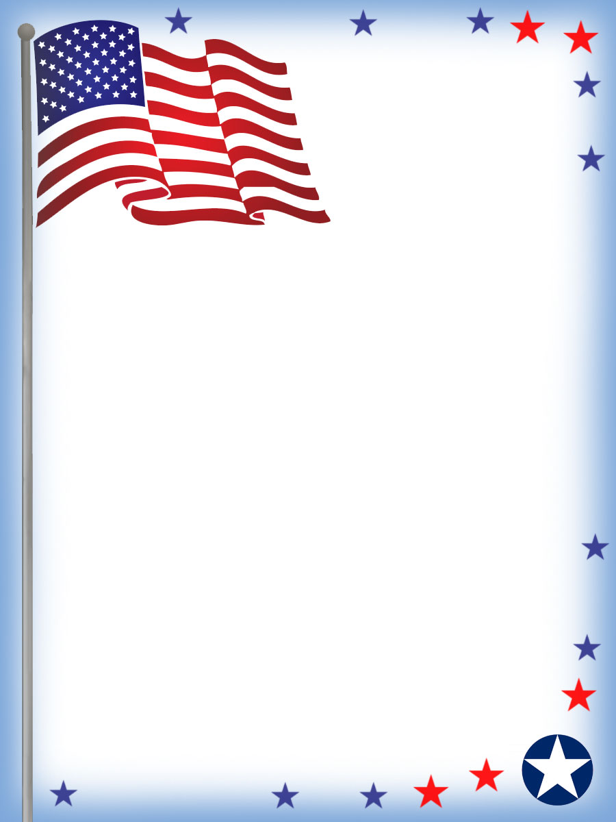 photograph regarding Printable Usa Flag known as July Fourth Stationery: United states Flag Notepaper Rooftop Report