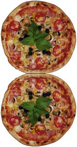 Printable pizza bunting decorations for children's parties