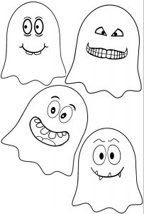 Halloween ghosts to print, cut out and decorate your house with at Halloween
