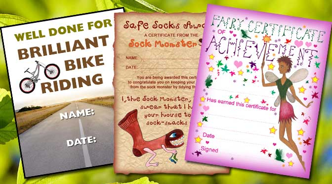 Kids Activity Certificates
