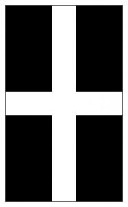 A flag to print out for St Piran's Day