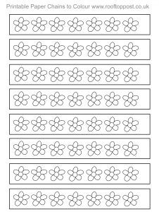Free printable paper chain for kids to colour in
